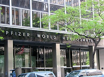 English: New York City - Pfizer World Headquar...