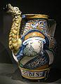 Ngv, maiolica di castelli (pompei), vaso per sciroppo di ribes, 1530-65 02.JPG