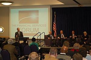 English: Financial Services Forum President an...
