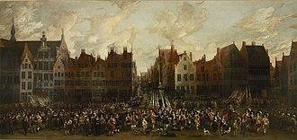 Nicolaas van Eyck - Image: Nicolaes van Eyck Grand Parade of the Antwerp Civil Guard on the Meir