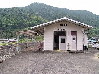 Nigishima Station railway station in Kumano, Mie Prefecture, Japan