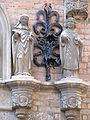 Nijmegen - Latijnse School - Kerkvaders Sint Albertus Magnus en Sint Ambrosius van Giuseppe Roverso.jpg