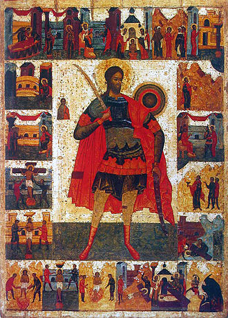 Gothic persecution of Christians - Icon of Saint Nicetas from Yaroslavl (16th century)