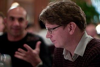 Niklas Zennström - Niklas Zennström with Loic Le Meur in the background