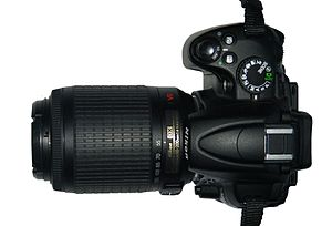 Nikon D5000 with 55-200mm lens
