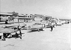 No. 1 Aircraft Depot RAAF - Aircraft on display at No. 1 Aircraft Depot, September 1955