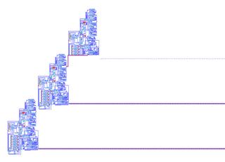 Von Neumann universal constructor a self-replicating pattern in a cellular automaton, designed by John von Neumann