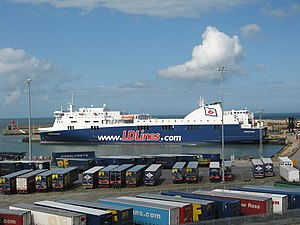 DFDS Seaways France - A former ferry, shown as M/S Norman Voyager now Brittany Ferries M/S Etretat