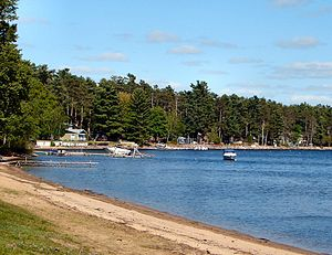 Bristol, Quebec - Public beach at Norway Bay