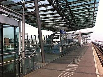 Nesselande metro station - Image: Nsl 2