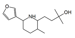 Chemical structure of nupharamine
