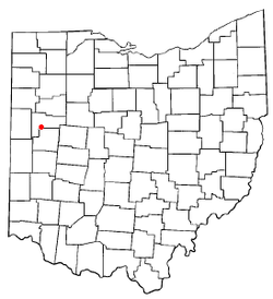 Location of New Knoxville, Ohio