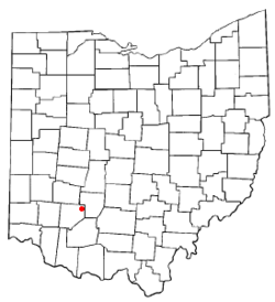 Location of Sabina, Ohio