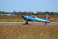 OY-KZS SAI KZ VIII landing at Danish Air Show 2014-06-22.jpg