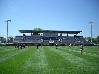 Michigan Wolverines men's soccer - U-M Soccer Stadium as it appeared during the 2013 season
