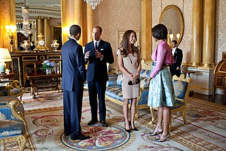 Catherine, Duchess of Cambridge - Catherine and William meet the Obamas at Buckingham Palace two weeks after their wedding (2011)