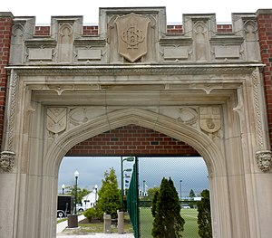 Ocean City High School - Preserved entrance to the demolished 1924 building.