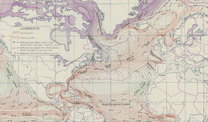 Ocean currents in north atlantic