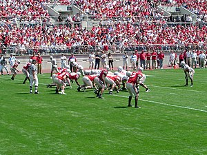 2006 Ohio State Buckeyes football team - Image: Ohio State Football Scarlet Gray Scrimmage