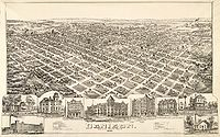 Map of the city in 1891