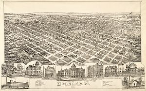 Denison, Texas - Map of the city in 1891