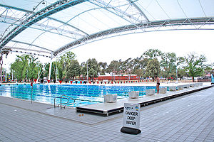 Melbourne Sports and Aquatic Centre - MSAC's outdoor swimming pool.