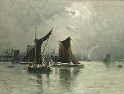 Frank Myers Boggs: On the Thames