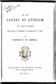 On the causes of atheism by Francis William Newman.pdf