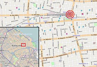 2012 Buenos Aires rail disaster - Image: Once mapa