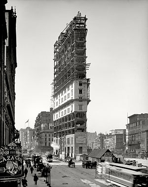One Times Square - One Times Square under construction in 1903