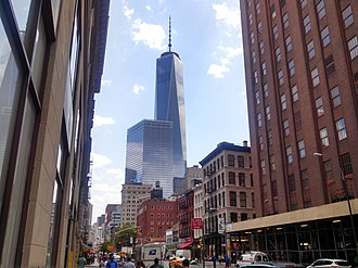 One World Trade Center w Manhattanje