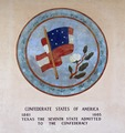 One of several medallions at Fair Park, depicting nations that have ruled all or much of the territory of Texas LCCN2015630299.tif