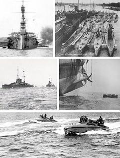 Naval warfare of World War I first world war battle of sea