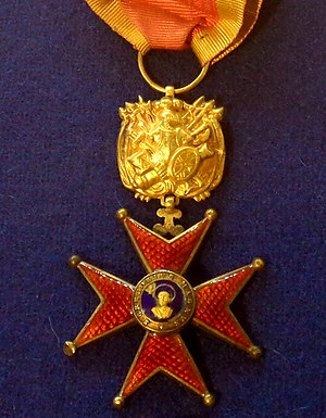 Order of St. Gregory the Great - Knight's badge in the military division