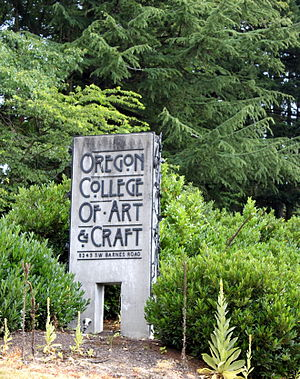 Oregon College of Art and Craft - Entrance to the school