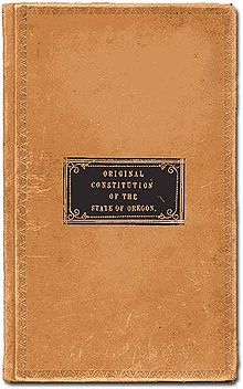 Oregon Constitution 1857 cover.jpg