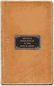 Oregonská ústava 1857 cover.jpg