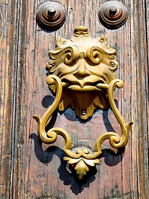 Ornate Cuban door knocker