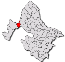 Location in Mehedinți County