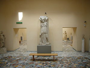 Museo Archeologico Ostiense - Roman copy of a winged goddess from the Temple of Jupiter in Ostia Antica.
