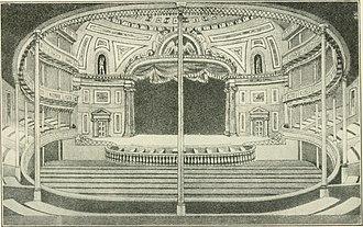 Chatham Garden Theatre - Chatham Garden Theatre interior, 1825