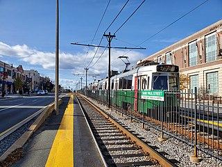 St. Paul Street station (MBTA Green Line B branch) Boston MBTA subway station