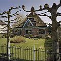 Overzicht houten geveltop van boerderij gezien vanaf de weg - Wijdenes - 20406717 - RCE.jpg