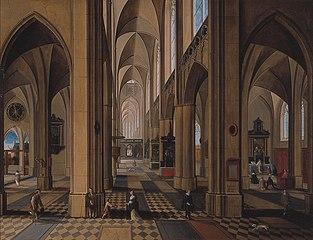 Interieur van een gotische kerk