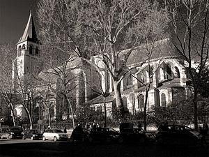 Abbaye de saint germain des pr s wikip dia for Carrelage du sud boulevard saint germain
