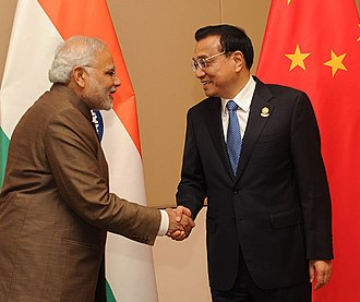 China–India relations - Premier Li Keqiang of China and Prime Minister Narendra Modi of India, during the ASEAN Summit to Myanmar, September 2014.