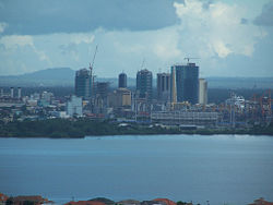 Downtown Skyline of the City of Port of Spain