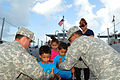 PRNG's Landing Craft citizen-soldiers welcome Vieques Preschoolers 140123-A-SM948-305.jpg