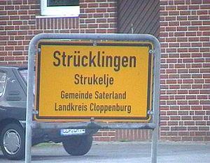 Saterland - A bilingual German-Saterland Frisian roadsign