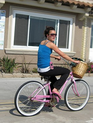 Bicicleta playera estilo California beach cruiser en California. - Bicicleta
